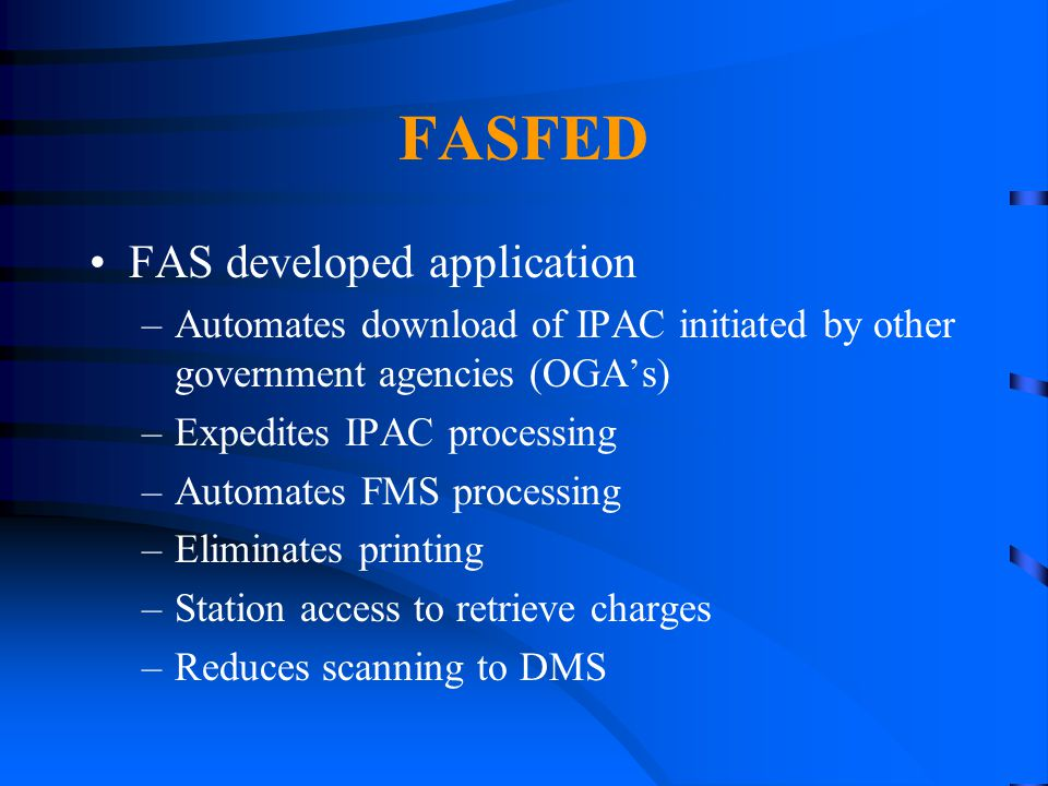 FASFED FAS developed application