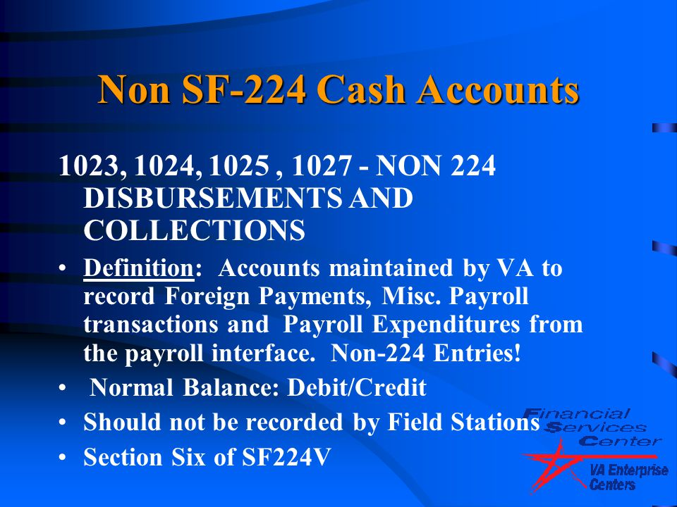 4/14/2017 Non SF-224 Cash Accounts. 1023, 1024, 1025 , 1027 - NON 224 DISBURSEMENTS AND COLLECTIONS.