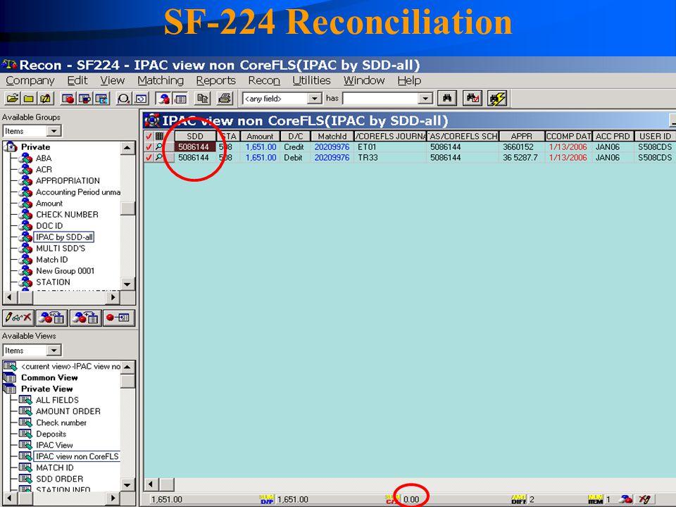 SF-224 Reconciliation 4/14/2017.