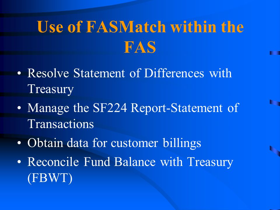 Use of FASMatch within the FAS