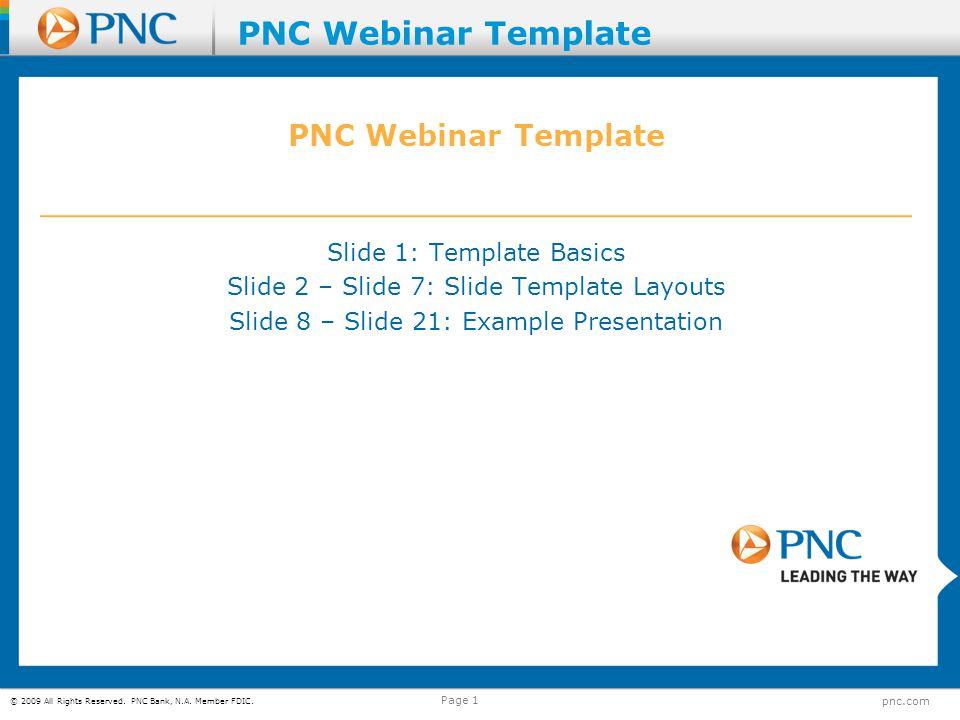 PNC Webinar Template PNC Webinar Template
