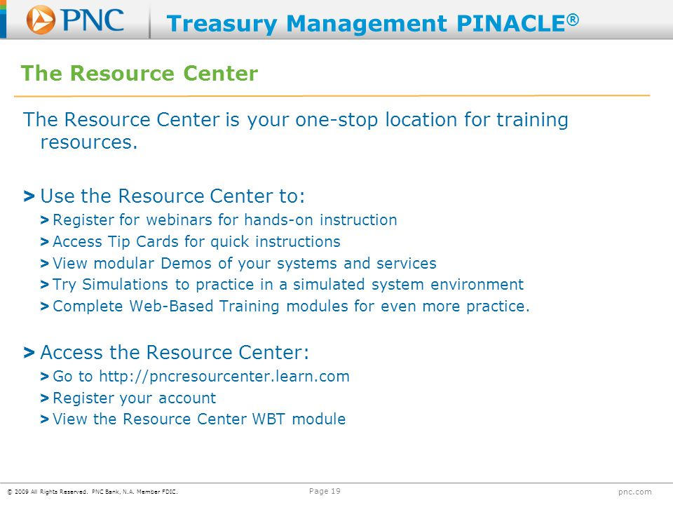 Treasury Management PINACLE®