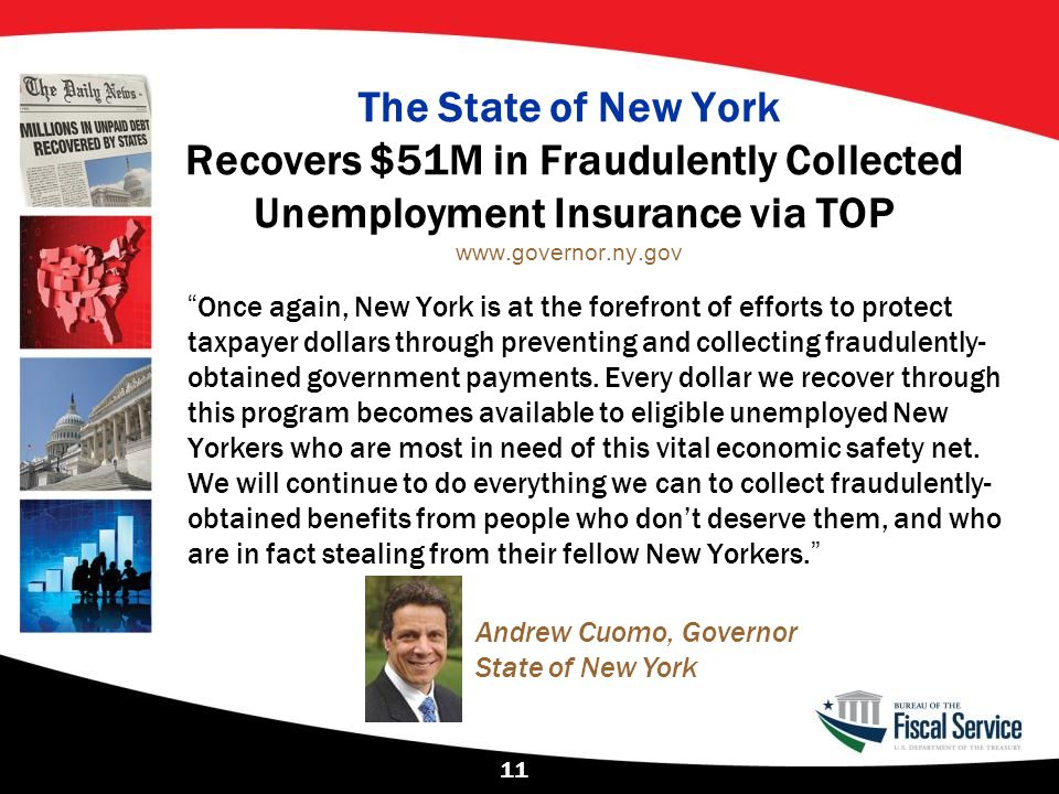 The State of New York Recovers $51M in Fraudulently Collected Unemployment Insurance via TOP www.governor.ny.gov