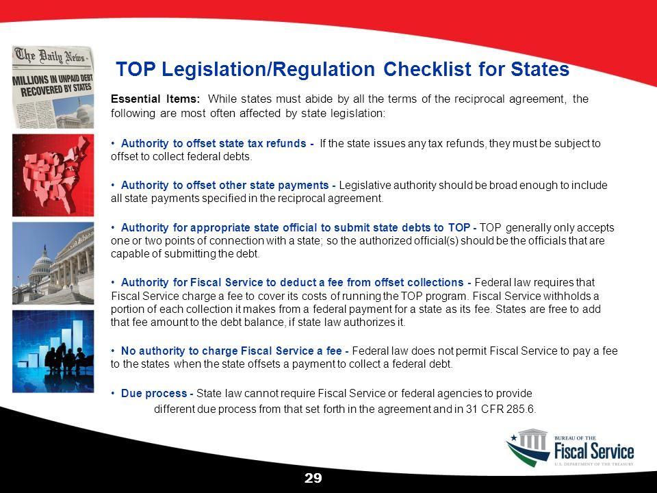 TOP Legislation/Regulation Checklist for States