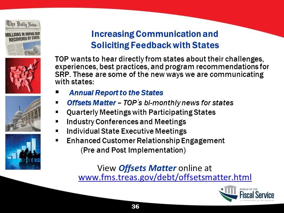 Increasing Communication and Soliciting Feedback with States