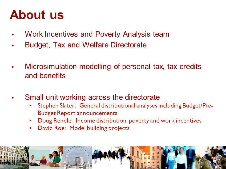 About us Work Incentives and Poverty Analysis team