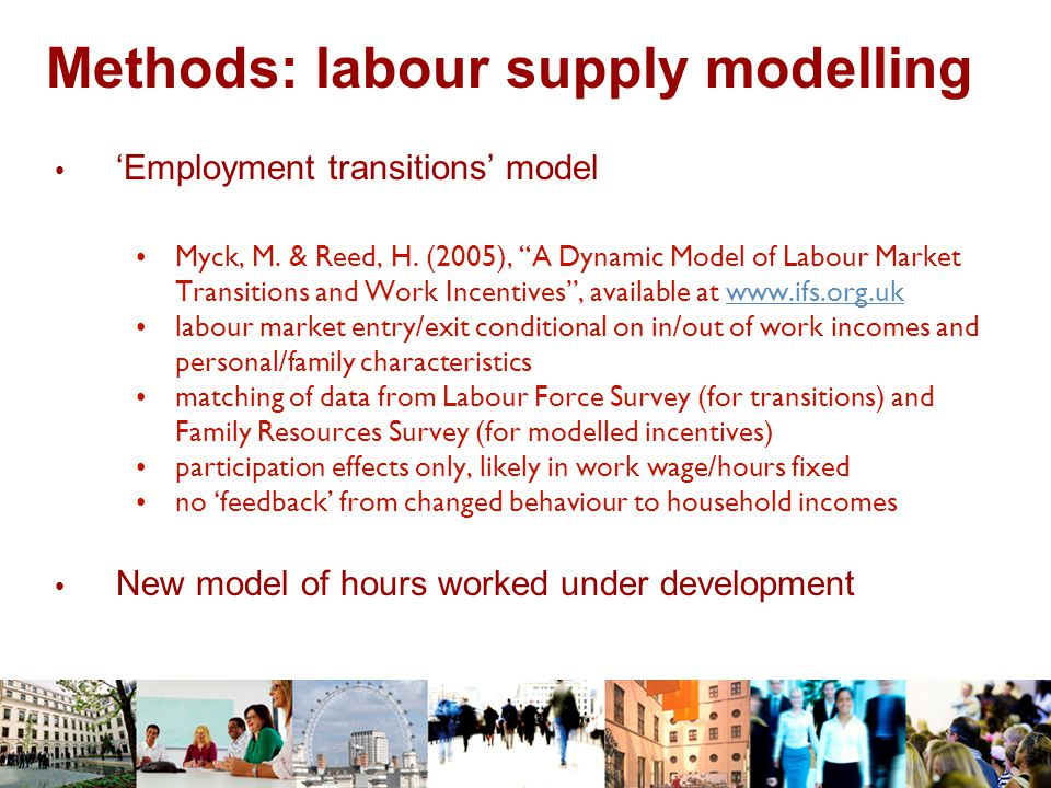 Methods: labour supply modelling