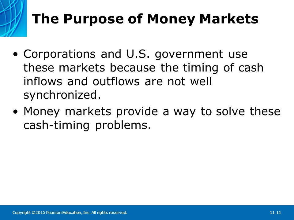The Purpose of Money Markets: Sample rates from the Federal Reserve