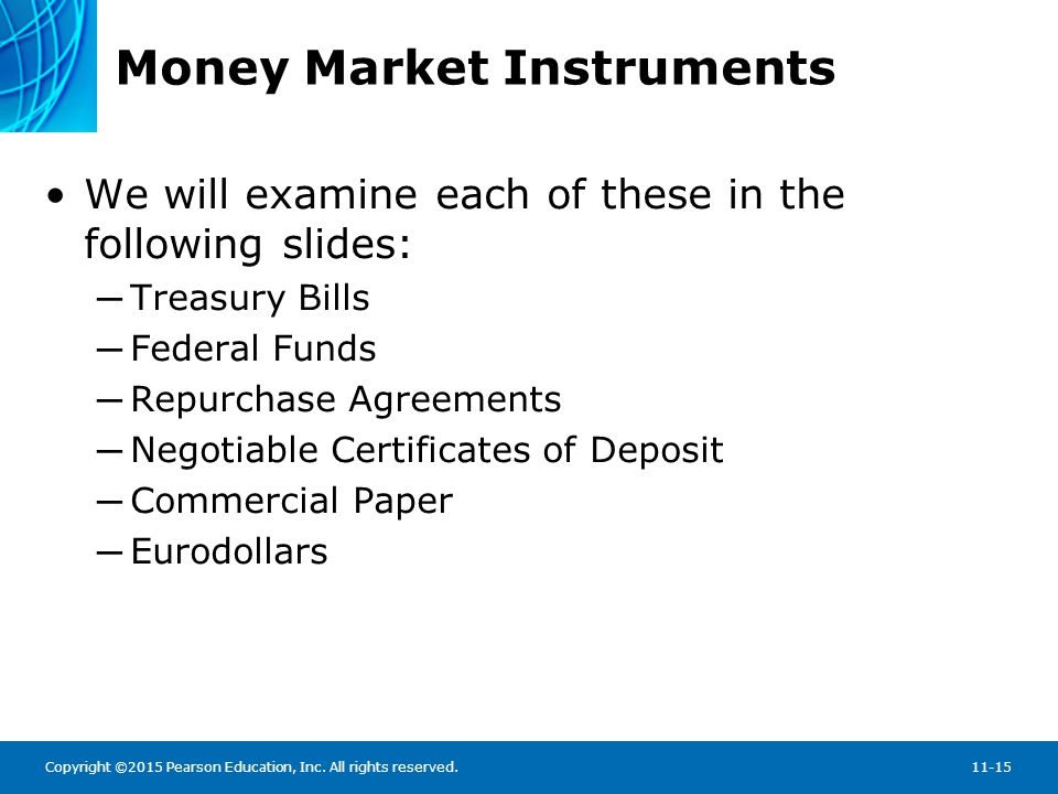 Money Market Instruments (cont.)