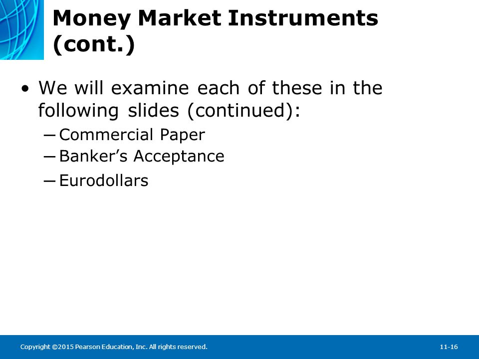 Money Market Instruments: Treasury Bills