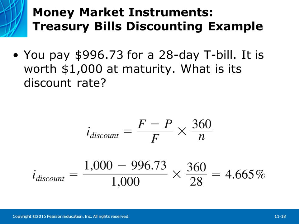 Money Market Instruments: Treasury Bills Discounting Example
