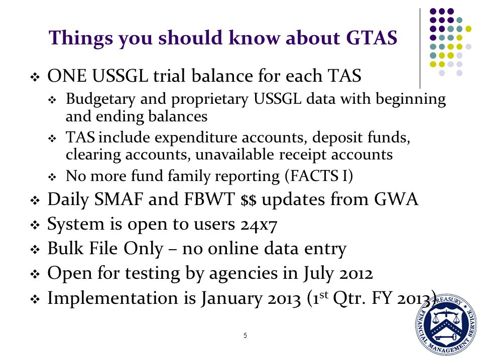 Things you should know about GTAS