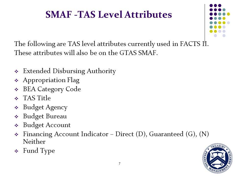 SMAF -TAS Level Attributes