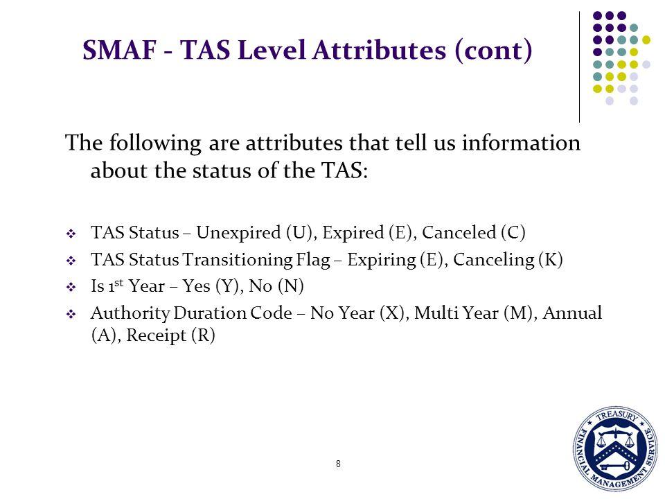 SMAF - TAS Level Attributes (cont)