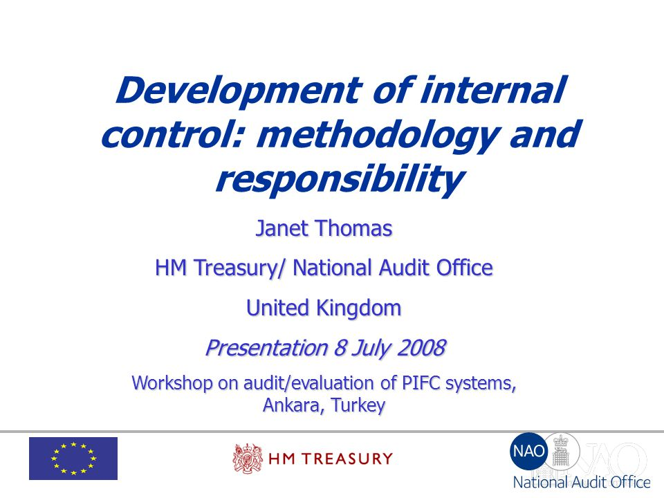 Development of internal control: methodology and responsibility