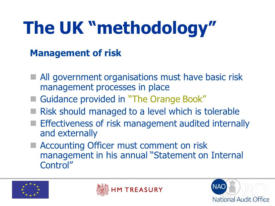 The UK methodology Management of risk