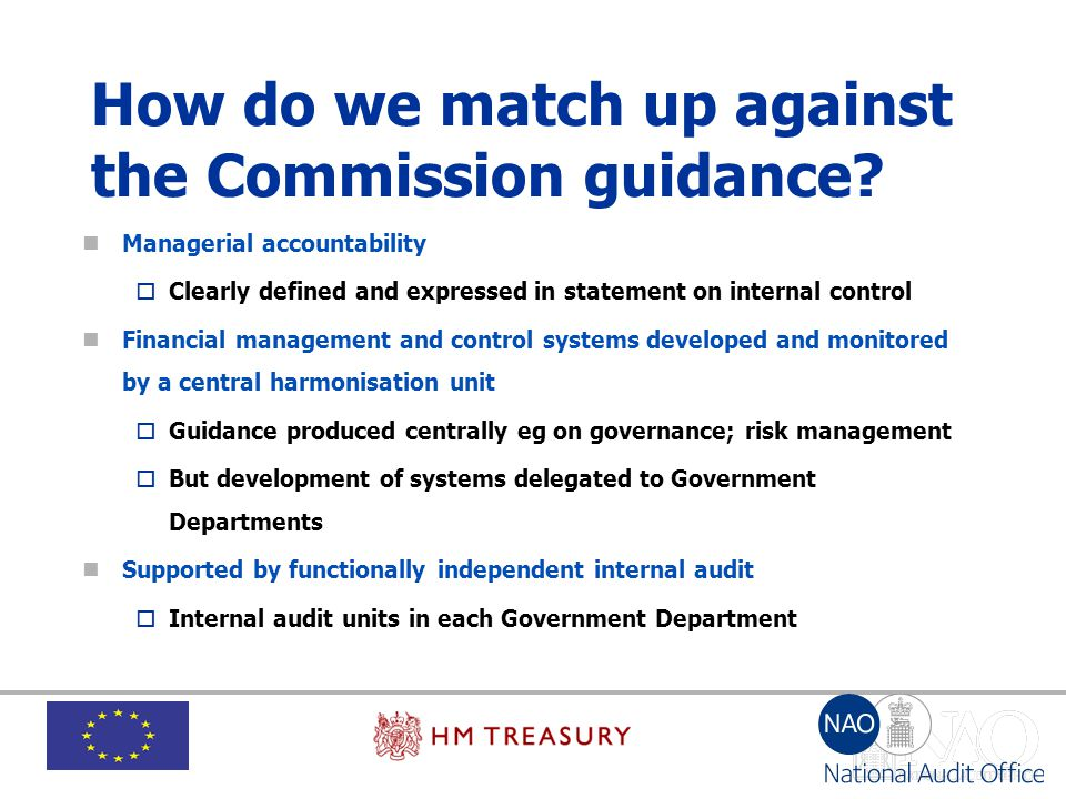 How do we match up against the Commission guidance