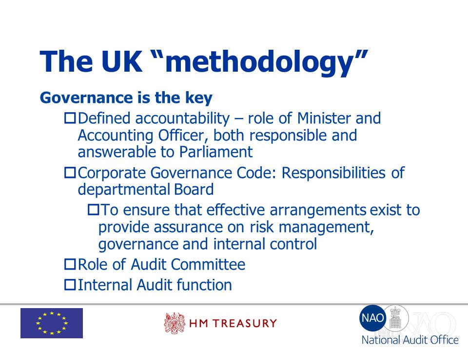 The UK methodology Governance is the key