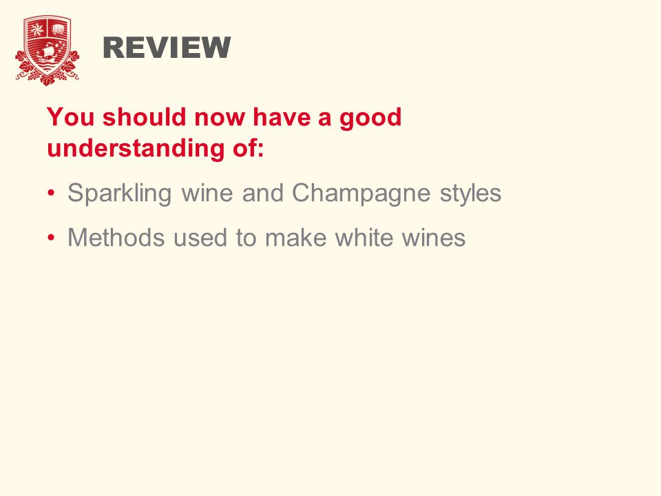 REVIEW You should now have a good understanding of: