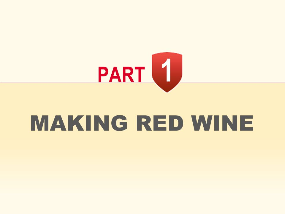 1 PART MAKING RED WINE