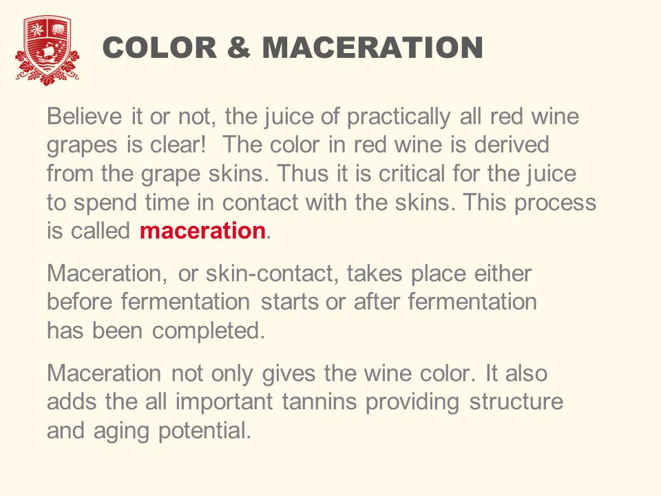 COLOR & MACERATION