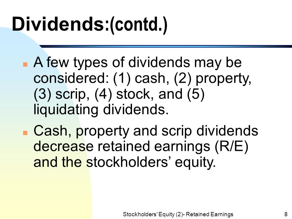 Liquidating dividends philippines