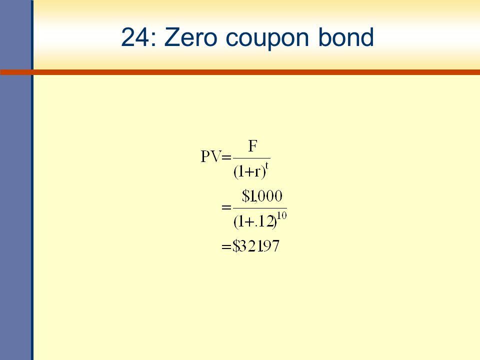24: Zero coupon bond