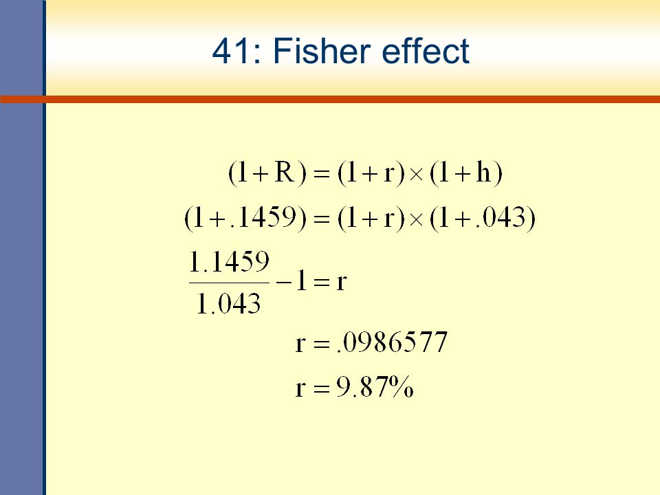 41: Fisher effect