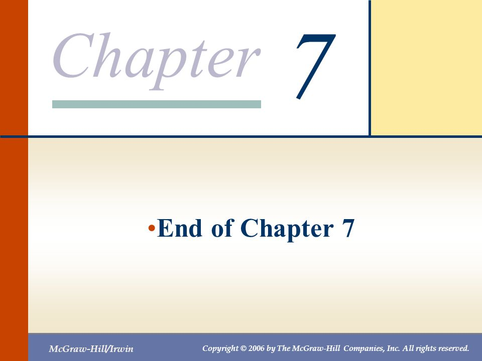 7 End of Chapter 7