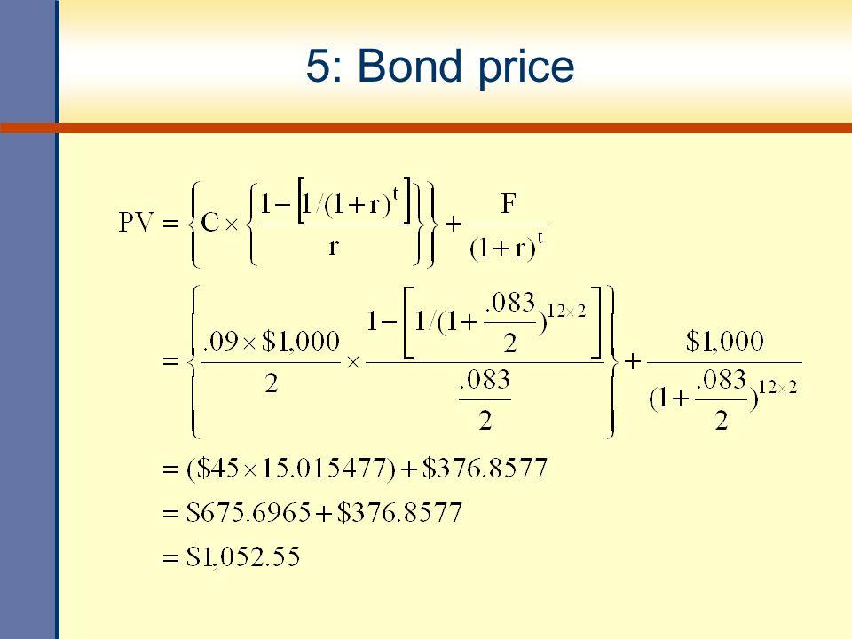 5: Bond price