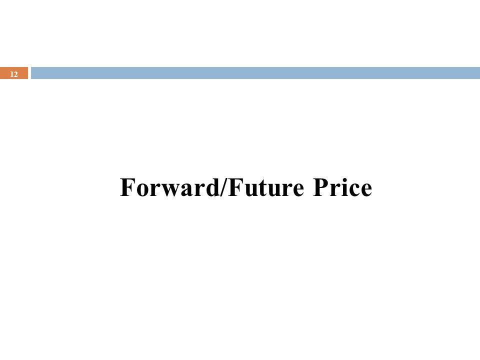 Forward/Future Price