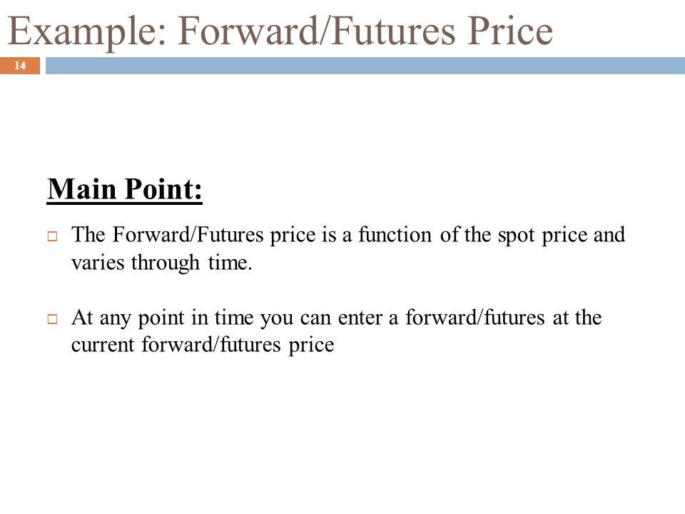 Example: Forward/Futures Price