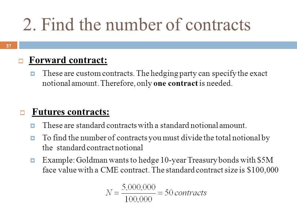 2. Find the number of contracts