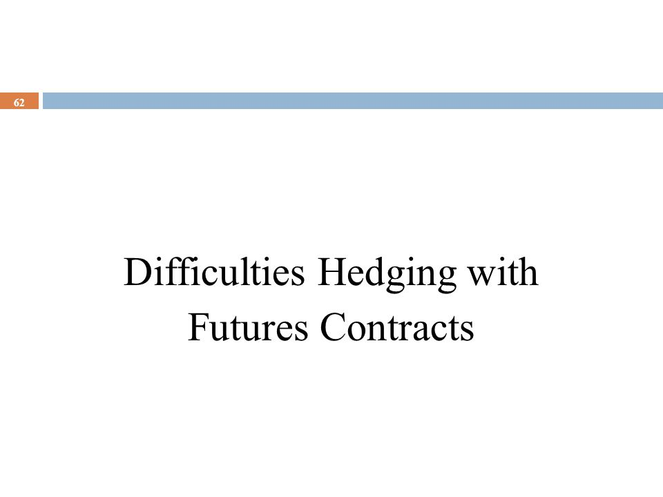 Difficulties Hedging with Futures Contracts