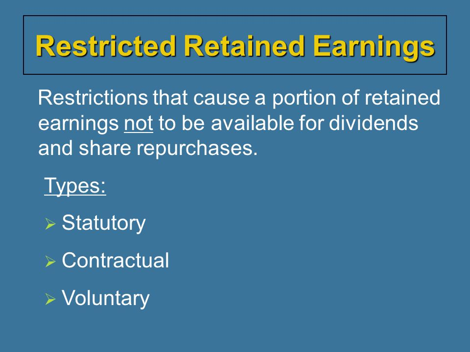 Restricted Retained Earnings