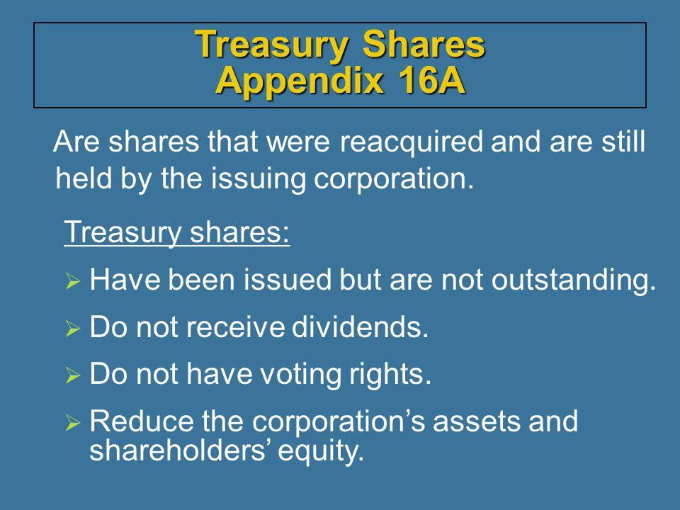 Treasury Shares Appendix 16A