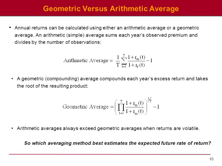 Problems with the Arithmetic Average