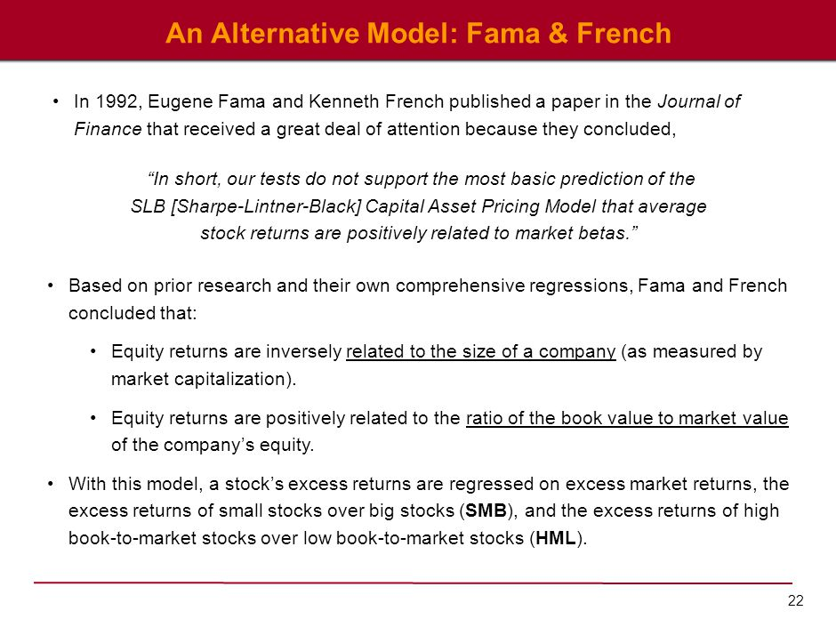 An Alternative Model: Fama & French