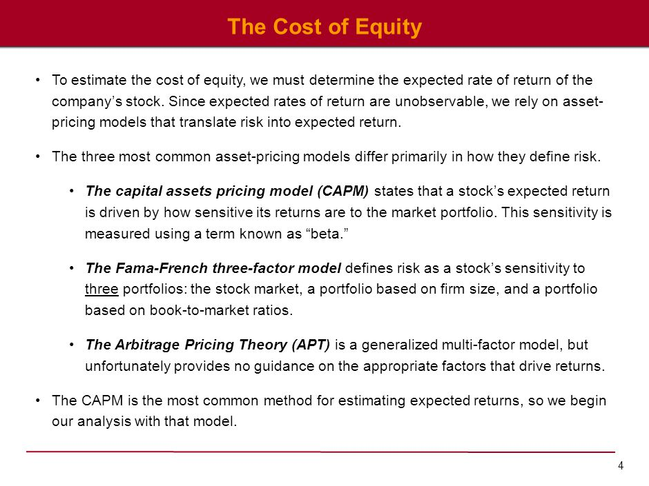 The Capital Assets Pricing Model