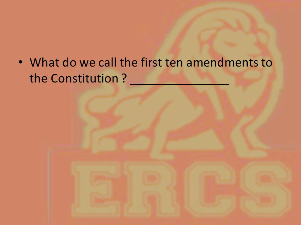 What do we call the first ten amendments to the Constitution