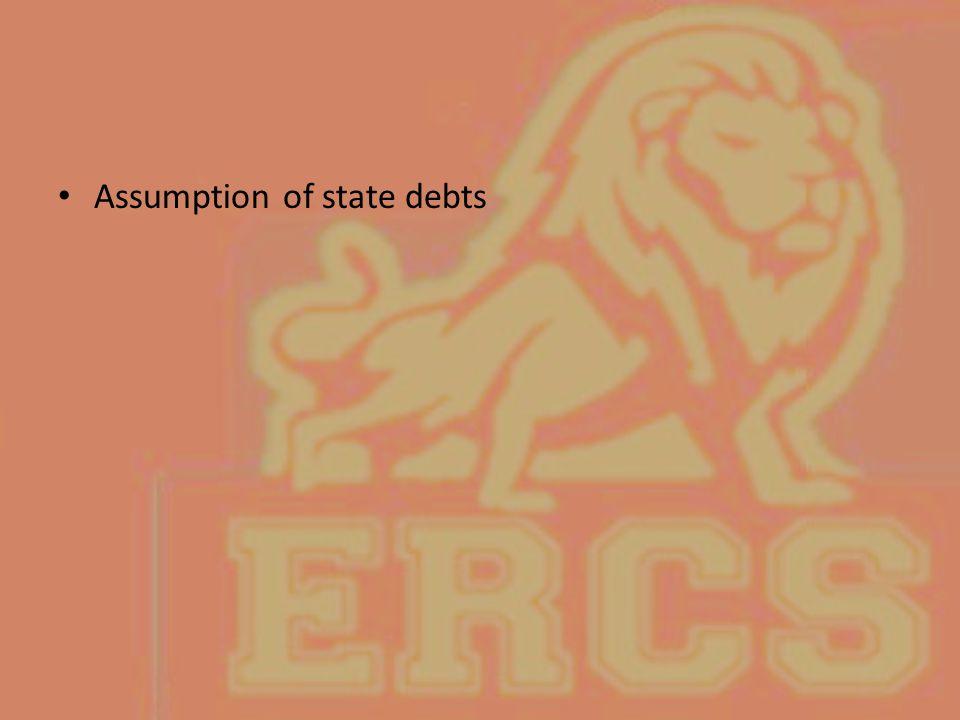 Assumption of state debts