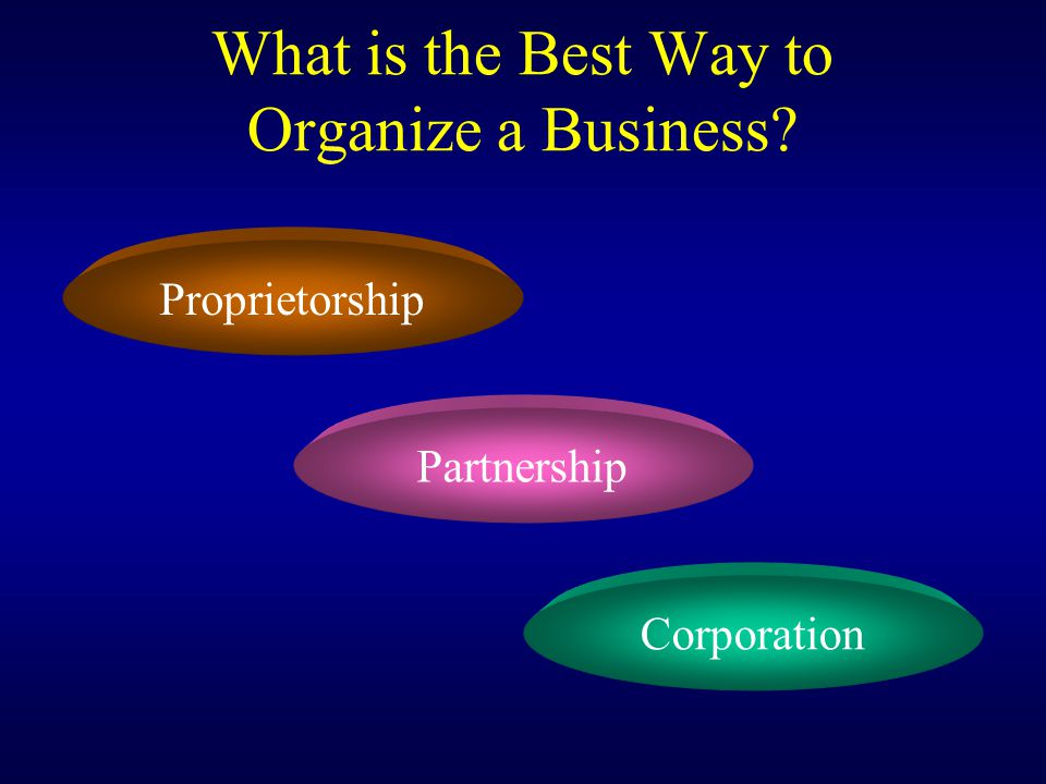 What is the Best Way to Organize a Business