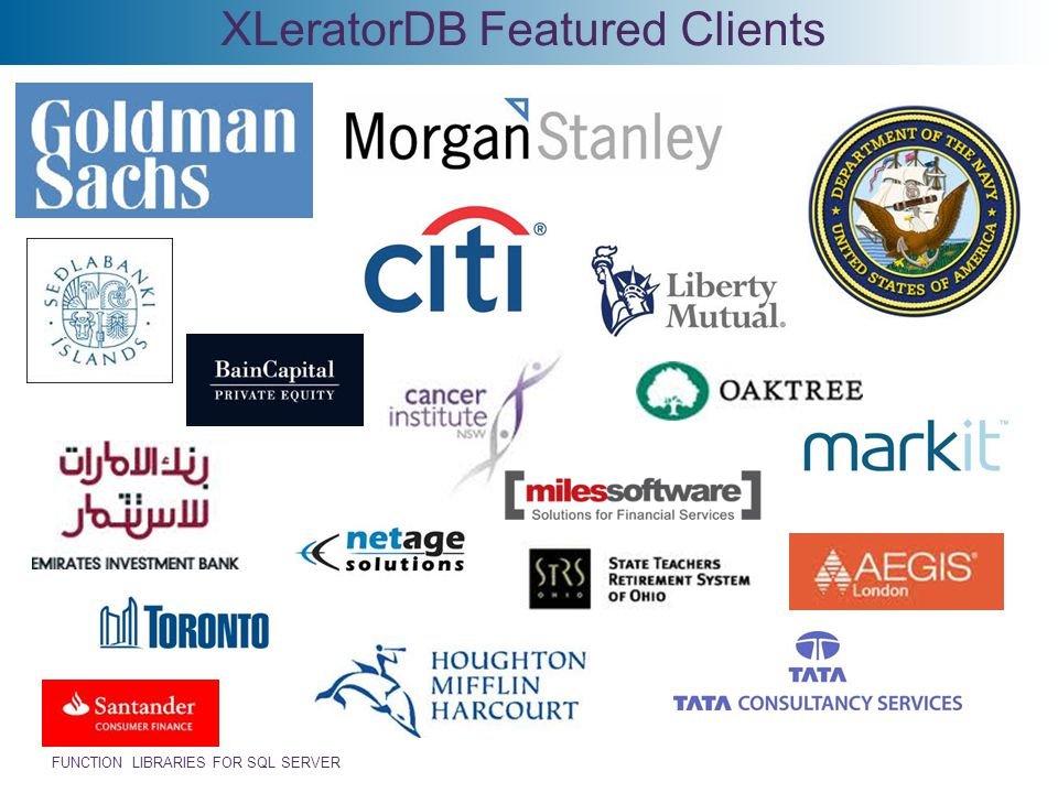 XLeratorDB Featured Clients