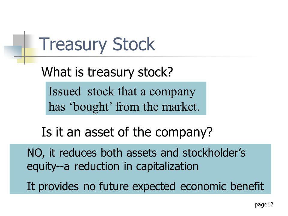 Treasury Stock What is treasury stock