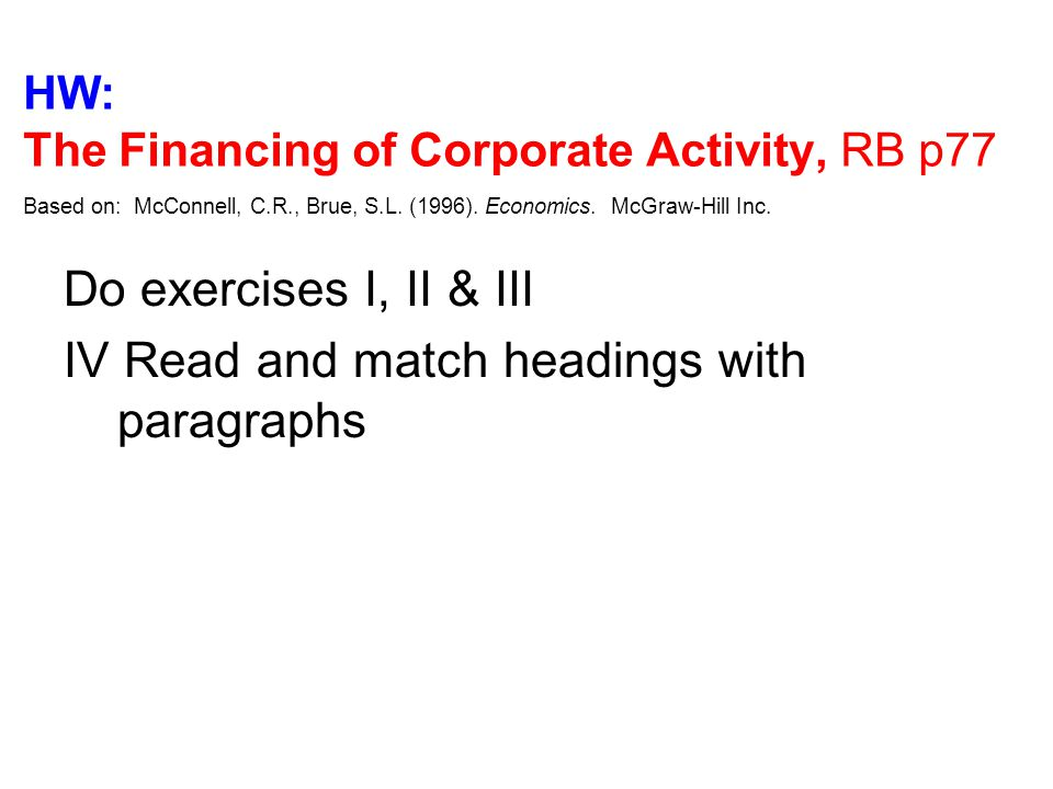 IV Read and match headings with paragraphs