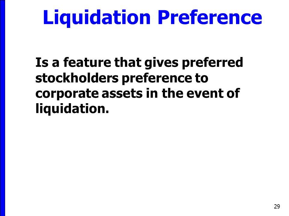Liquidation Preference