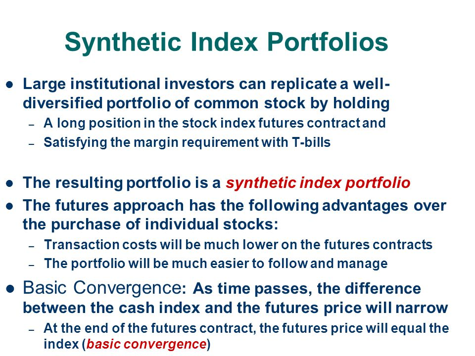 Synthetic Index Portfolios