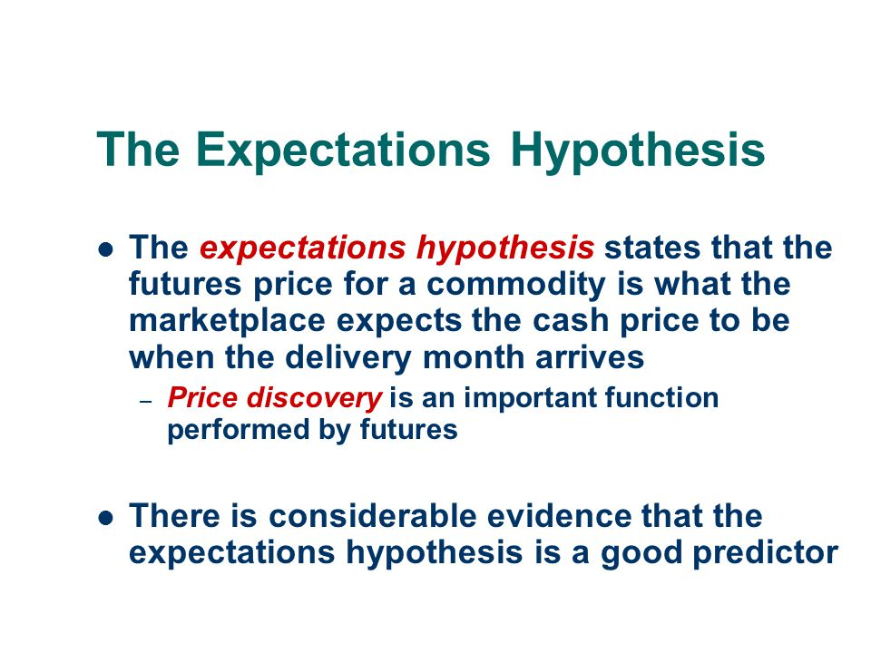 The Expectations Hypothesis