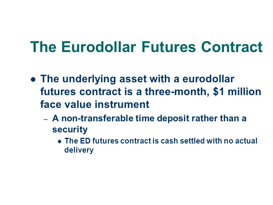 The Eurodollar Futures Contract