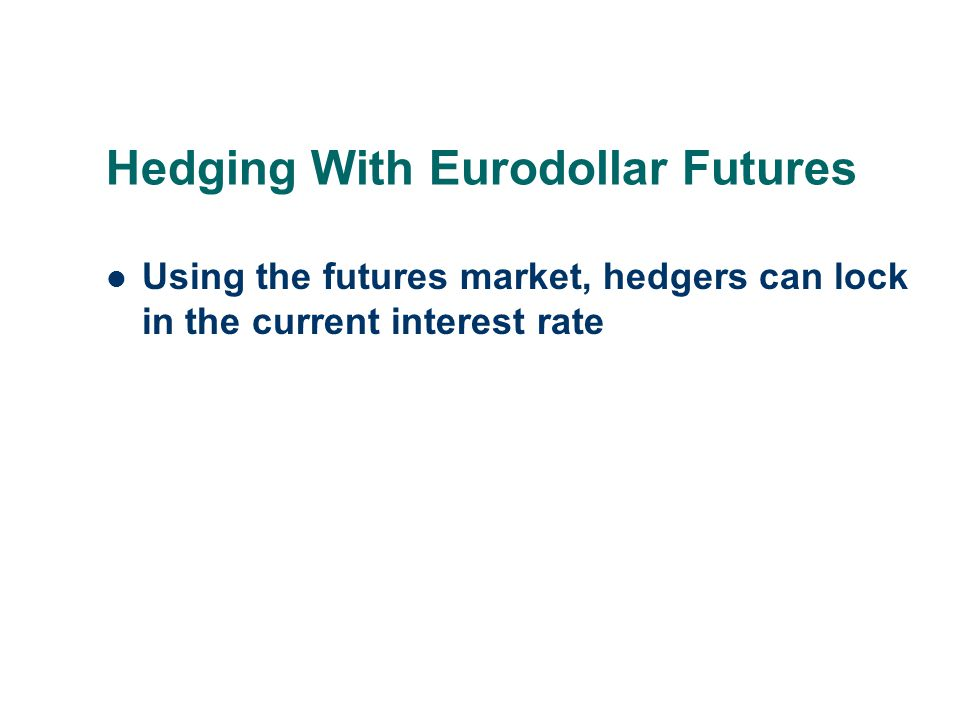 Hedging With Eurodollar Futures